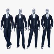男性スーツ3 3d model