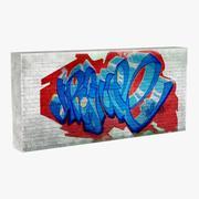 Graffiti Wall V3 3d model