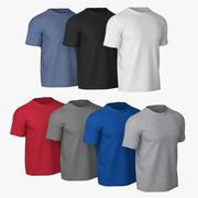 T-shirt V2 (7 couleurs) 3d model