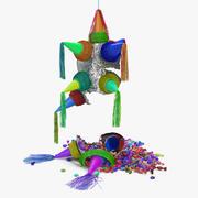 Smashed Star Pinata 3D Model 3d model