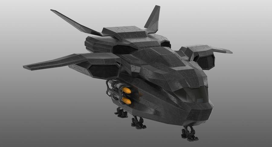 Statek kosmiczny royalty-free 3d model - Preview no. 3