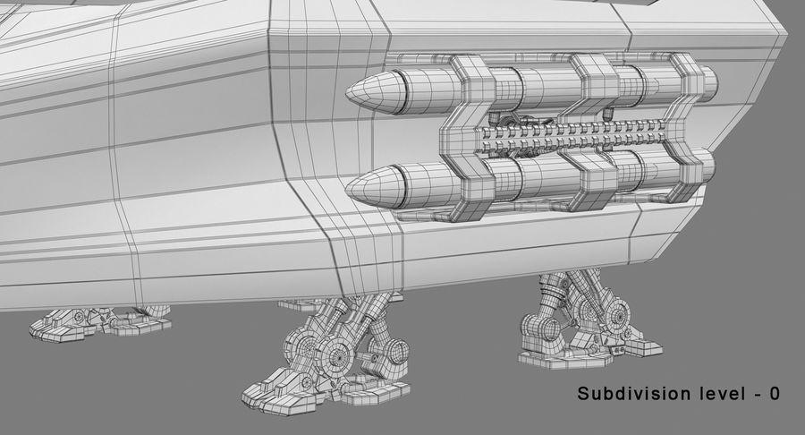 Statek kosmiczny royalty-free 3d model - Preview no. 17