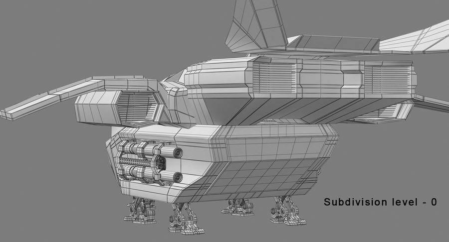 Statek kosmiczny royalty-free 3d model - Preview no. 19