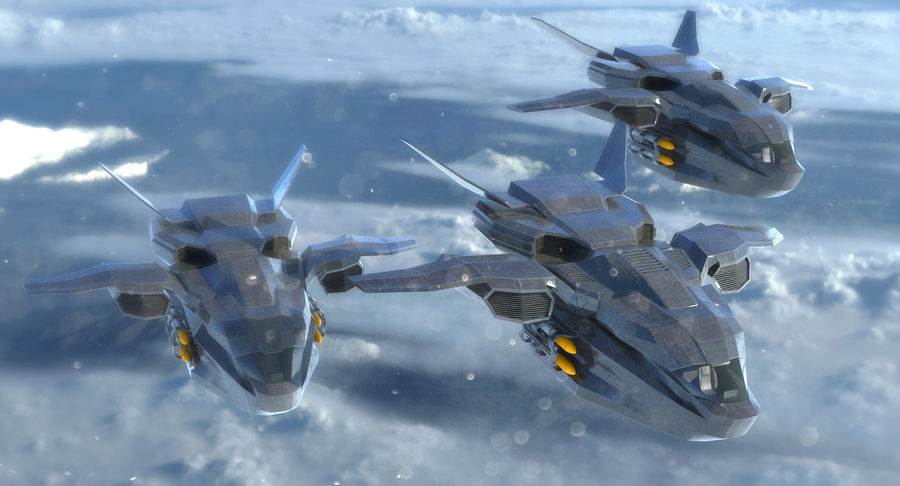 Statek kosmiczny royalty-free 3d model - Preview no. 4