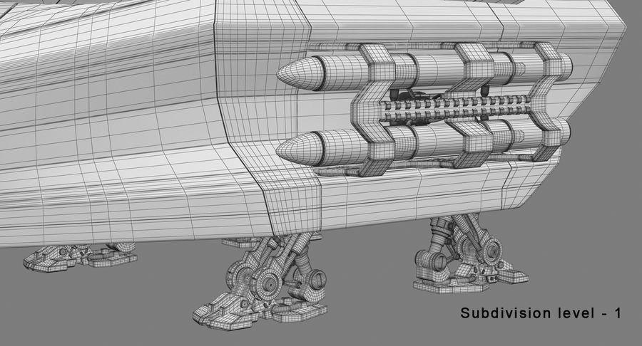 Statek kosmiczny royalty-free 3d model - Preview no. 16