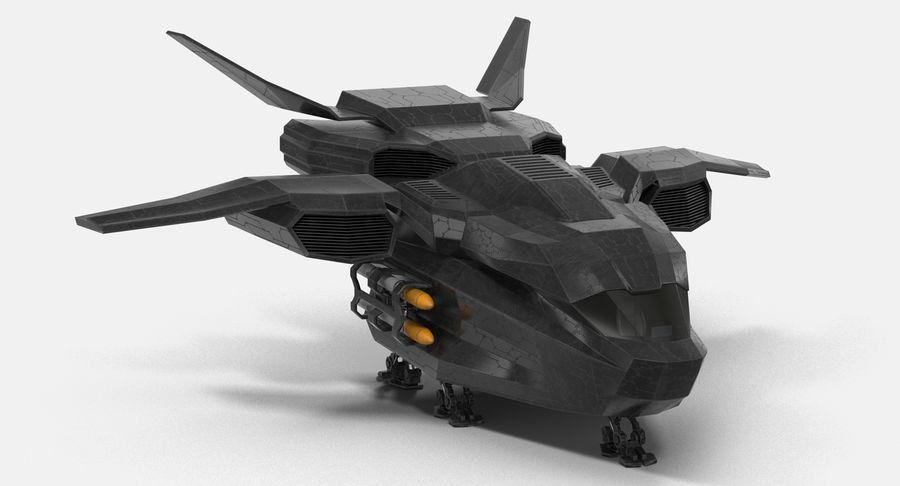 Statek kosmiczny royalty-free 3d model - Preview no. 2