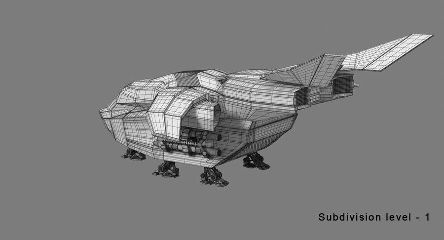Statek kosmiczny royalty-free 3d model - Preview no. 14