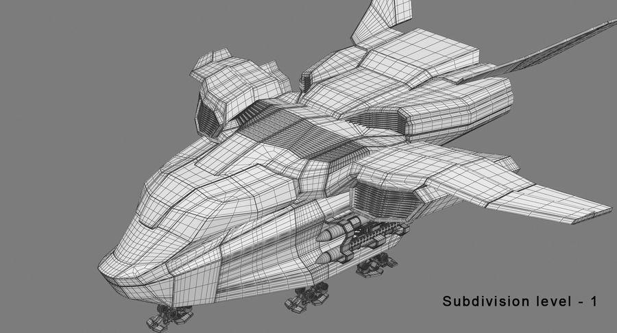 Statek kosmiczny royalty-free 3d model - Preview no. 12