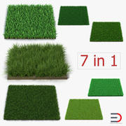 Grass Fields Collection 3d model
