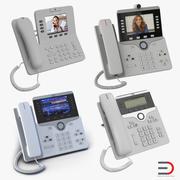 Coleção de modelos 3D de telefones IP da Cisco 5 3d model