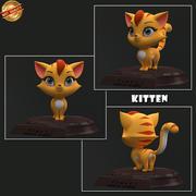 Cartoon Kitten 3d model