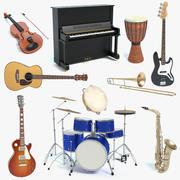 Müzik aleti seti 3d model