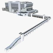 Terminal de cruzeiros de Cingapura 3d model