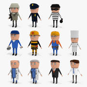 Cartoon Characters Collection 3d model