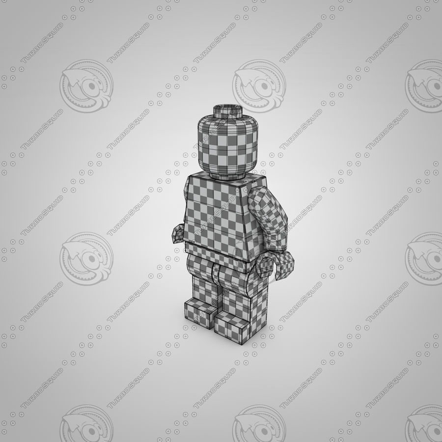 Postać Lego royalty-free 3d model - Preview no. 4