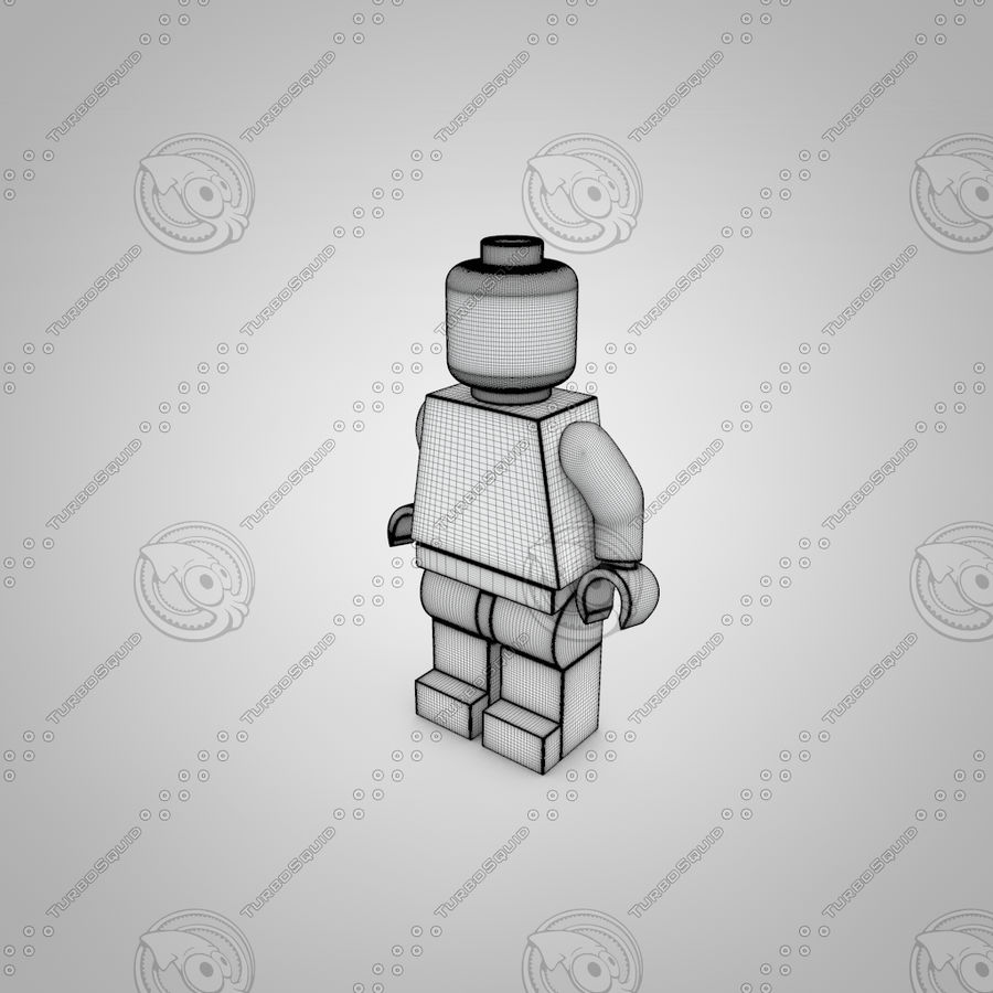 Postać Lego royalty-free 3d model - Preview no. 3