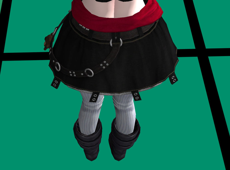 Anime Styled Club Girl royalty-free 3d model - Preview no. 2