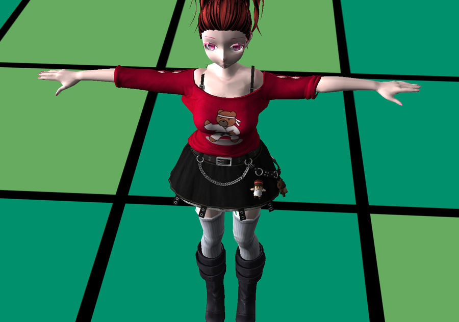 Anime Styled Club Girl royalty-free 3d model - Preview no. 8