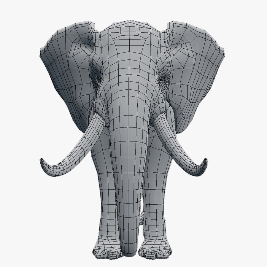 elephant african royalty-free 3d model - Preview no. 3