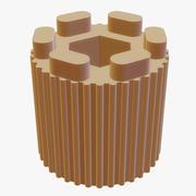 リブ付きノブ-3Dプリント 3d model