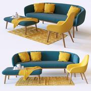 沙发和扶手椅 3d model