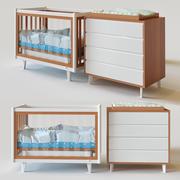 婴儿床复古 3d model