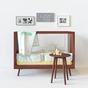 亚克力婴儿床 3d model