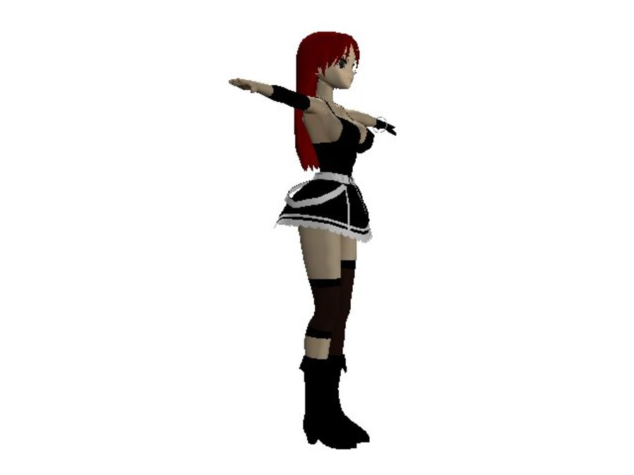 Rigged Anime Scarlet Female royalty-free 3d model - Preview no. 2