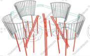 stół + krzesła 3d model
