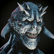 demons huvud 3d model