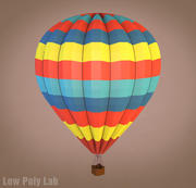 Low Poly Balloon Cartoon 3d model