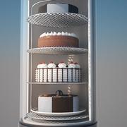 Display Case Bartscher Refrigerator 3d model