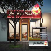 Negozio di pollo fritto 3d model