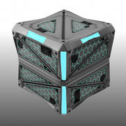 Game_Ready SciFi Crate Container 3d model