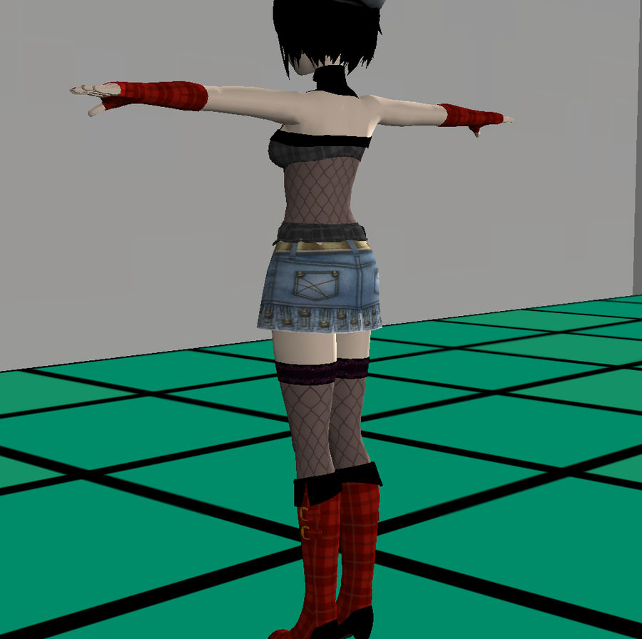 Anime Dance Girl royalty-free modelo 3d - Preview no. 15