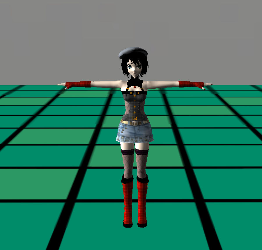Anime Dance Girl royalty-free 3d model - Preview no. 3
