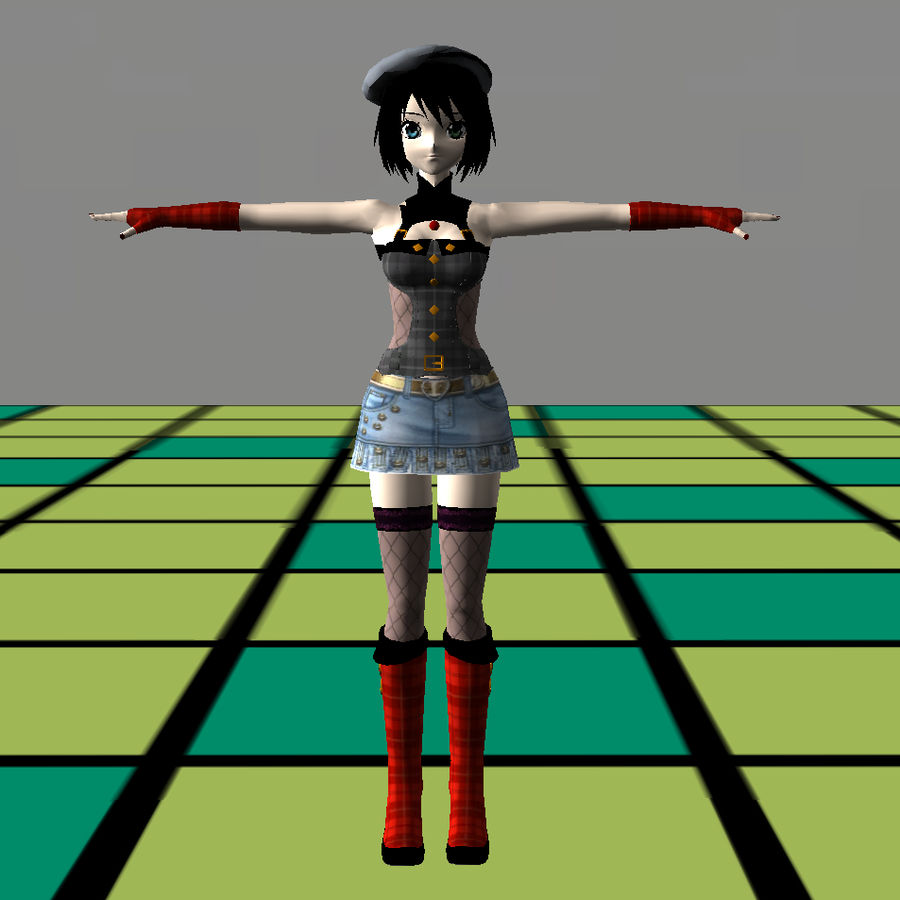 Anime Dance Girl royalty-free modelo 3d - Preview no. 14