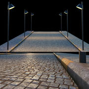 Paving and sidewalk 3d model