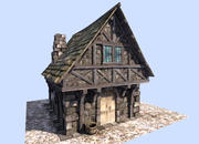 mittelalterliches Haus 3d model