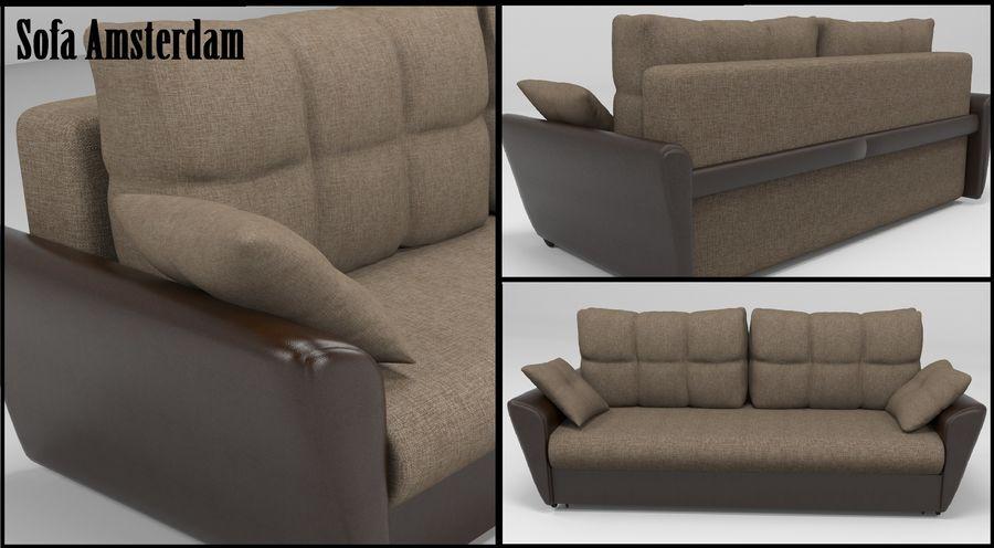 Divano Amsterdam 051 royalty-free 3d model - Preview no. 1