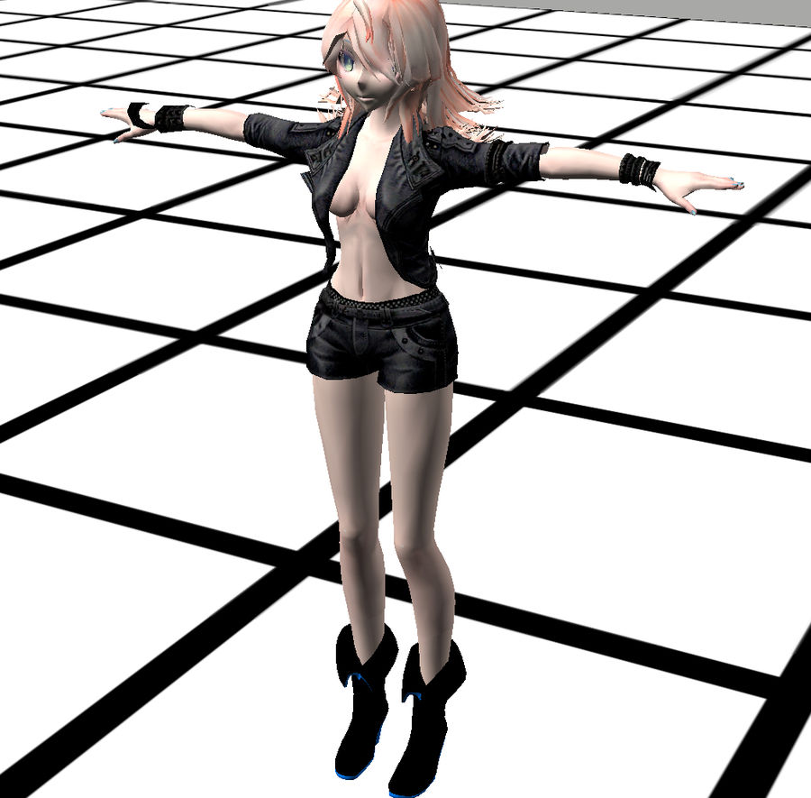 Anime Rigged Metal Girl royalty-free 3d model - Preview no. 14