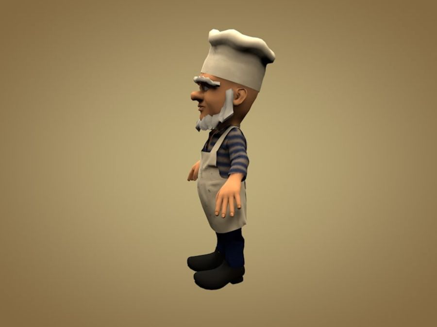 Cook or Kitchener royalty-free 3d model - Preview no. 2