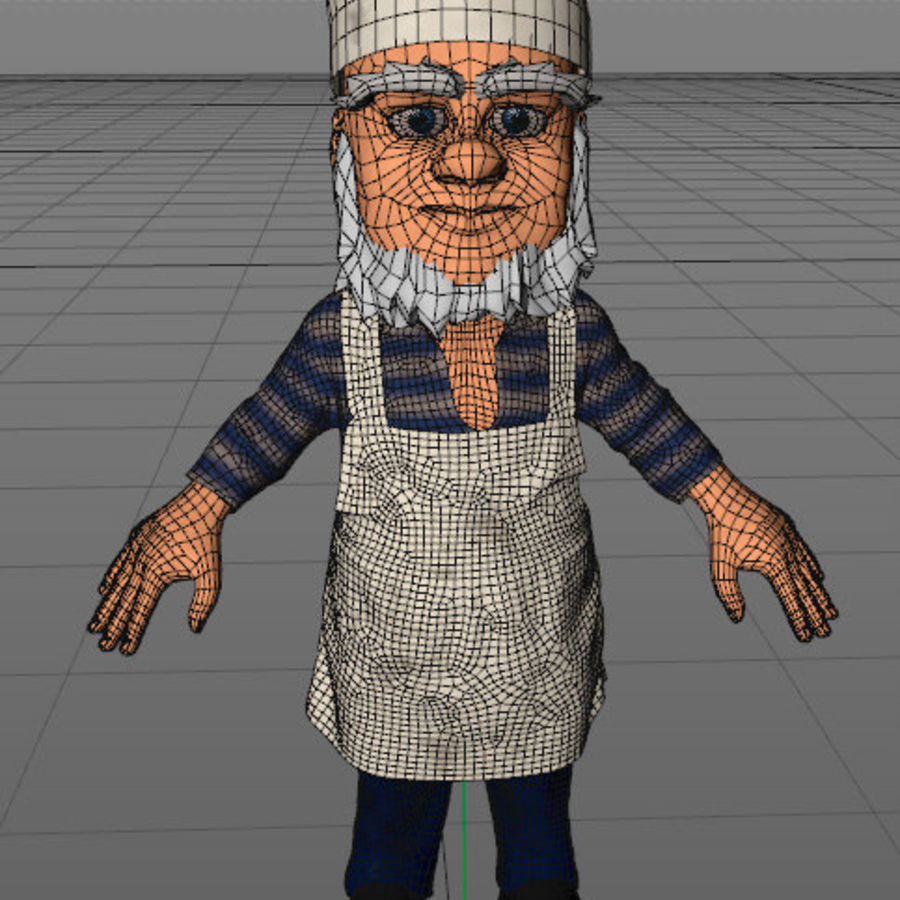 Cook or Kitchener royalty-free 3d model - Preview no. 4