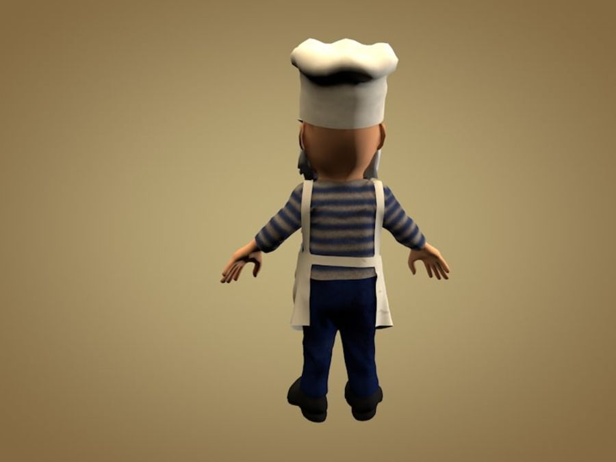 Cook or Kitchener royalty-free 3d model - Preview no. 3