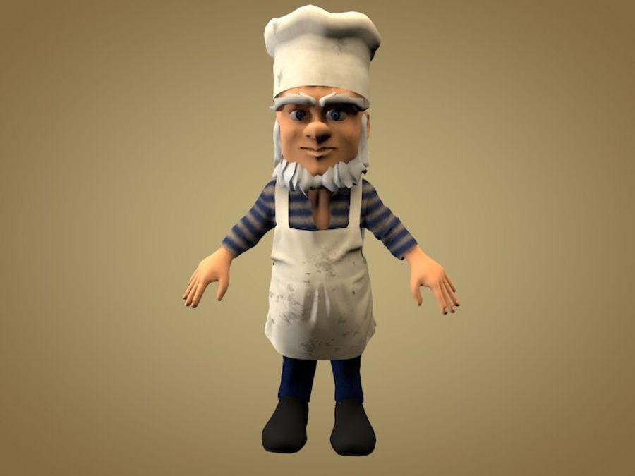 Cook or Kitchener royalty-free 3d model - Preview no. 1