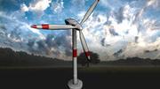 Современная ветротурбина   Готова к игре   3d model