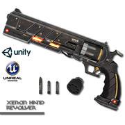 Xenon hand revolver 3d model