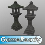 Japanse stenen lantaarn 3d model