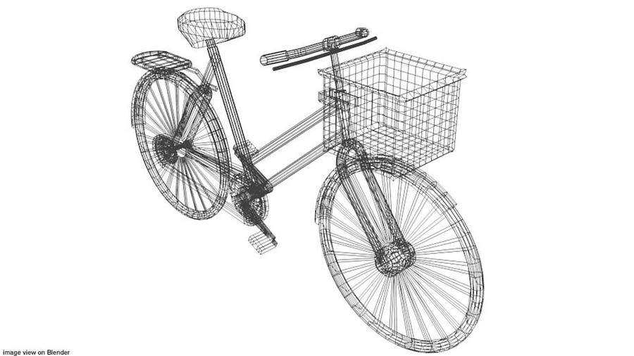 Bicycle - Classic royalty-free 3d model - Preview no. 4