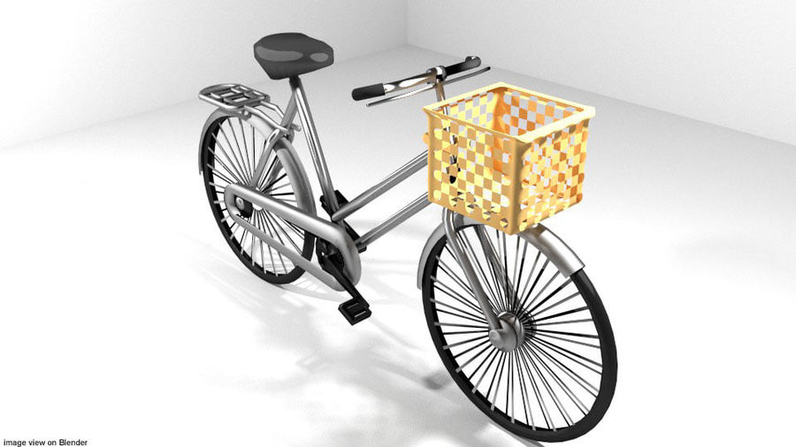 Bicycle - Classic royalty-free 3d model - Preview no. 1